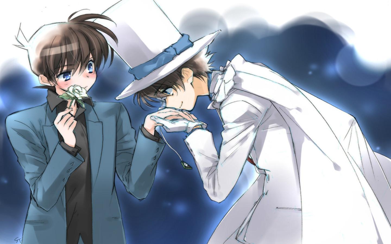 5. Kaito Kuroba x Shinichi Kudo (Detective Conan)